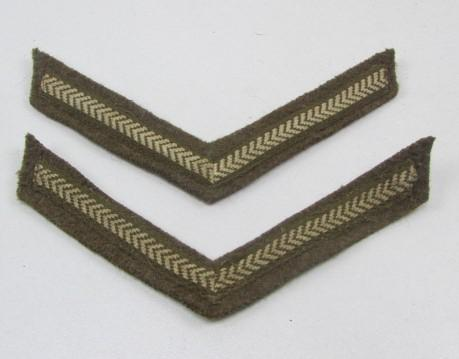 Pair Off British Lance Corporal Stripes - Mint Condition